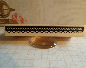 Stamp wood rectangular lace