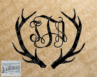 Digital Antler Monogram