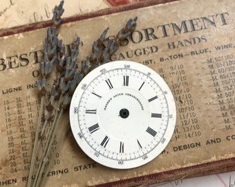 Vintage Porcelain POCKET Watch Face for Steampunk and Altered Art- Roman Numerals- Pocketwatch Dial- C24