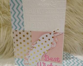 "Happy Birthday Card, Best Wishers, 5x7"" Greeting Card"