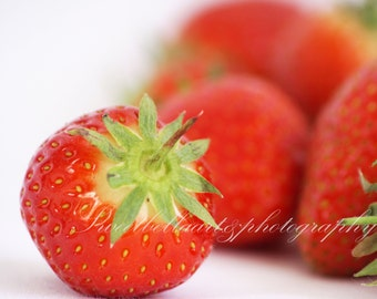 Wall Art, Photography Print, Strawberries, Food Photography
