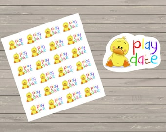 Play Date Stickers, Fits Erin Condren Planner, Stickers, Play Day Stickers, Activity Stickers, Fits Filofax Planners, Functional Stickers