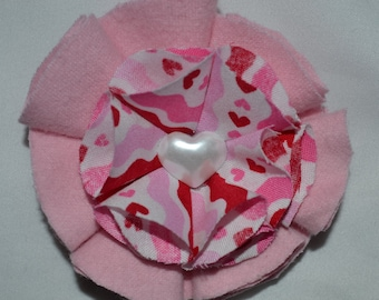 pink and red hearts hair clip