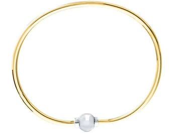 Made on Cape Cod. Bracelet with 14k Gold Filled, & sterling silver screw ball. Best quality guaranteed.