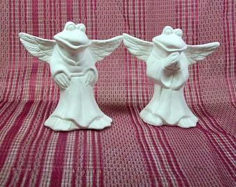 Unpainted Ceramic Bisque / Angel Figurines / Ready to Paint Ceramics / Frog Figurines / Ceramics to Paint / Ceramic Bisque / Bisque Ware
