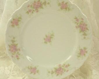 Vintage Plate Platter Limoges Roses Cottage Prairie Farmhouse Chic