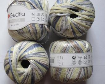 12 balls Ribbon GEDIFRA 56% cotton ALGARVE 4262