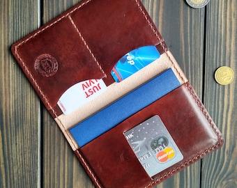 Father's Day Passport wallet Leather passport cover Passport case Personalized leather passport holder womans passport holder gift for man