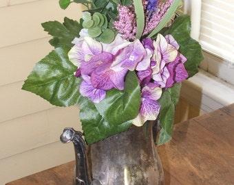 Bouquet de mariage violet, rose petite
