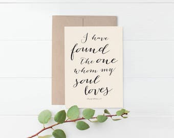 Song of Solomon Romantic Greeting Card