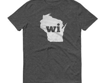 Wisconsin Tshirt, Wisconsin, Wisconsin Shirt, WI Shirt, Wisconsin State, Wisconsin Tee, State Pride, Gifts, Map, Shirt, TShirt, Tee, WI