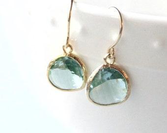 Gift Prasiolite earrings Green amethyst earrings Green earrings Green dangle earrings Bridesmaid earrings Green drop earrings Gift for Her