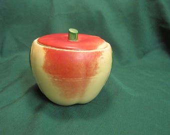 Apple Two Piece Canister 1940,s #3