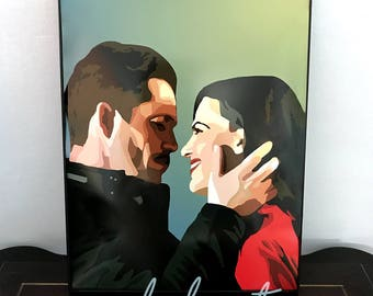 OUTLAW QUEEN  - Once Upon A Time • OUAT Digital Drawing - 11x14 Poster Print
