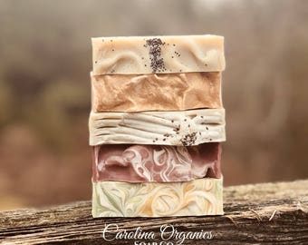 Party of 5!! Set of 5 Organic Cold Process Soaps!!!