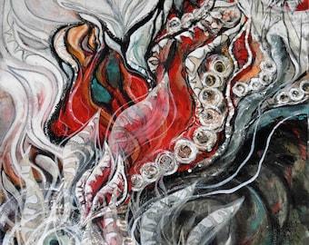 Action & Reaction, original mixed media painting