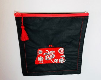 Red Purse Cosmetic Sachet