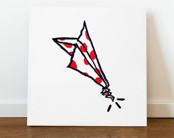 Candy Plane - Acrylic Painting on Canvas - 50 cm x 50 cm