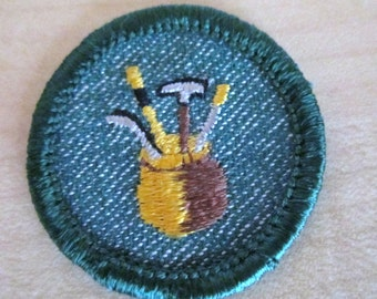 """Intermediate Girl Scout Badges from 1950's-""""Dabbler"""""""