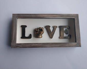 Handmade Baby Love Sign