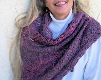 Purple Wool Shawl,