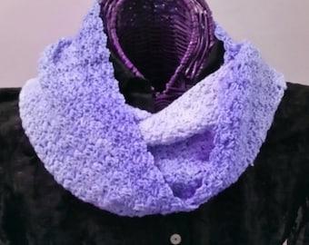 Infinity Scarf in Gradient Lavenders