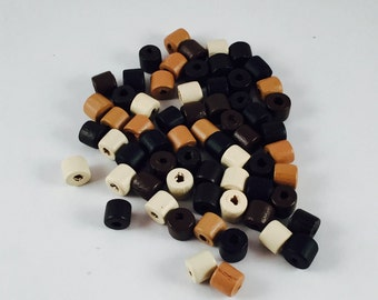 Beads, Brown Wood Beads, Wood Beads, Heishi Beads, Dark Brown Wooden Beads, 8mm Wood Beads,Brown Heishi Beads, Brown Beads,Heishi Wood Beads
