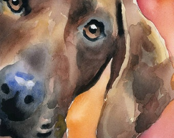 Redbone Coonhound Art Print Signed by Artist DJ Rogers