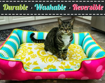 Cat Bed | Cat Accessories | Pet furniture | Custom Cat Bedding | Cat Furniture | Personalized Pet Items | Washable Cat Bed | Cat | Kitten |