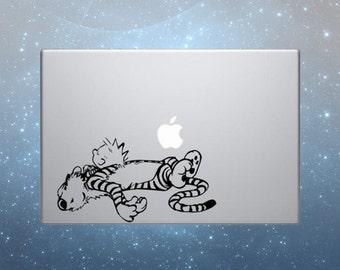 Calvin and Hobbes decal macbook sticker decal vinyl apple skin macbook pro decal ipad