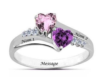 Custom love heart ring