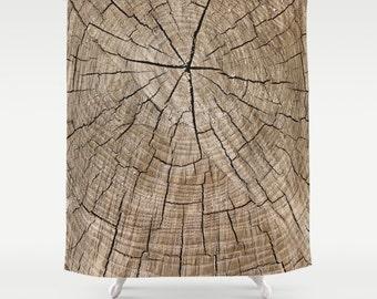 Rustic Shower Curtain, Tree Shower Curtain, Woodland Decor, Cabin Shower Curtain, Lake House Decor, Country Decor, Brown Shower Curtain