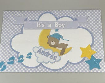 25 Boy Baby Shower placemats