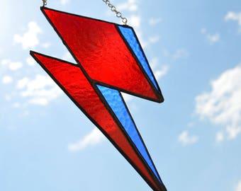 David Bowie Glass Lightening Bolt