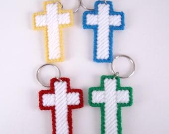 Cross Key Ring set Green Red Yellow Blue