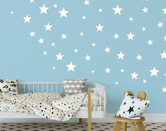 Star Wall Decals - Star Wall Stickers - Kids Wall Decoration - Baby Room Decal - Nursery Wall Decal - Vinyl Stickers - Extra Star Decals
