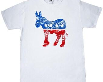 Vintage Democrat Donkey T-Shirt by Inktastic