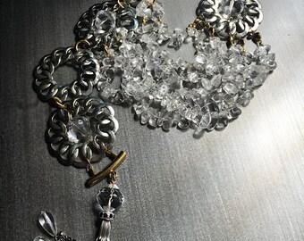 Multi-strand Quartz Crystal Tassel Necklace
