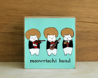 "ART BLOCK: ""Meowriachi Band"" featuring a Mariachi Band of Cats"
