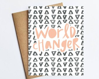 World Changer - NOTECARD - FREE SHIPPING!
