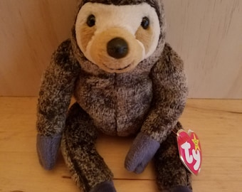 Slowpoke Sloth Beanie Baby TY 1999 Retired