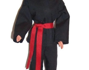 Black Karate Outfit for Fashion Dolls