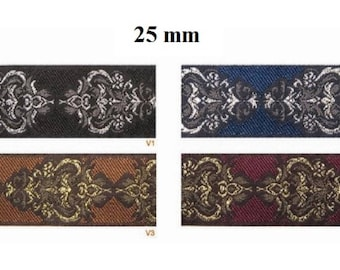to order! 10 m braid medieval/oriental embroidered jacquard width 25 mm