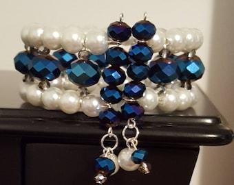 Pearl Cuff Bracelet, Cuff Bracelet, Pearl Bracelet