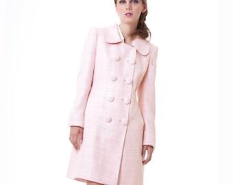 NEW BLACK SWAN Pink Spring Pastel Lined Tweed Coat Natalie Portman Nina Sayers S M L custom