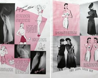 1940 Bra & Girdle Fashion Article - Women's Lingerie Advertisement