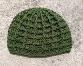 Crochet skullcap for men and women, for teens and adults