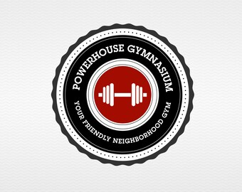 Powerhouse | Premade, Customizable Logo for your Gym - or any Health/Fitness Based Business or Blog on a budget - Clean and Simple.