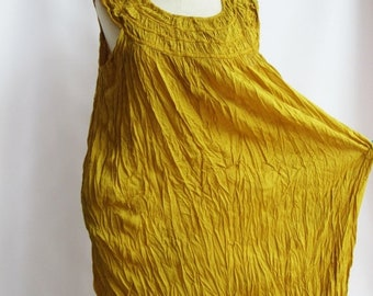 ON SALE 30% off, D1, Sunflower Ruffle, Sleeveless, Yellow Cotton dress