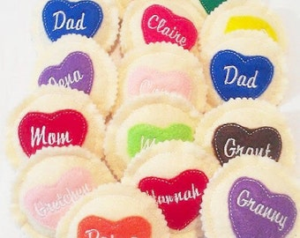 Felt play food - pretend food - play kitchen food - Personalized heart cookie - Choose your icing color - Pretend Play Cookies  #PF2511
